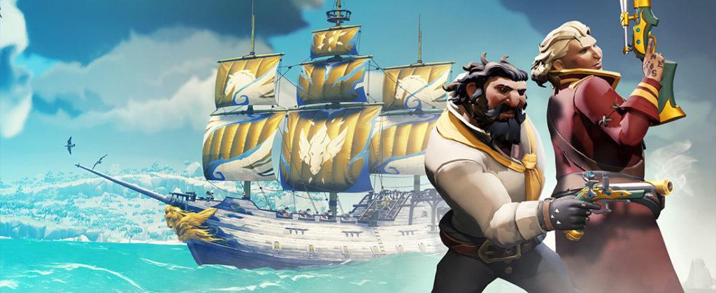 bateau du Pégase Scintillant avec deux pirates et des armes
